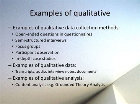 exle of qualitative data research design philosophy and methods