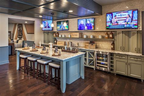 Kitchen Design Plans With Island 47 Cool Finished Basement Ideas Design Pictures