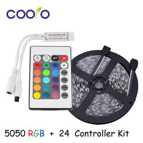 Led Light Smd 5050 Rgb 7 Color With Eu Controller 3 smd 5050 led rgb color changeable light kit 5m 300 led 60 led m dc12v 24 ir remote
