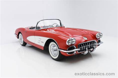 vintage corvette 1958 chevrolet corvette exotic classic car dealership