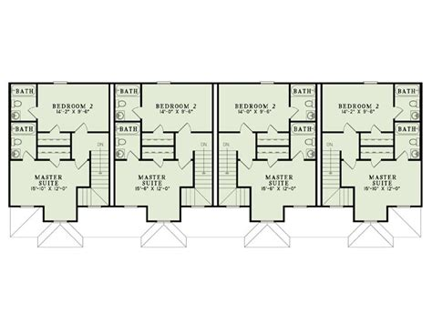 two story apartment floor plans apartment house plans 4 living units two story design