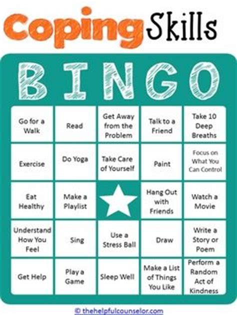 anger management bingo cards printable stress management coping skills bingo game for kids and