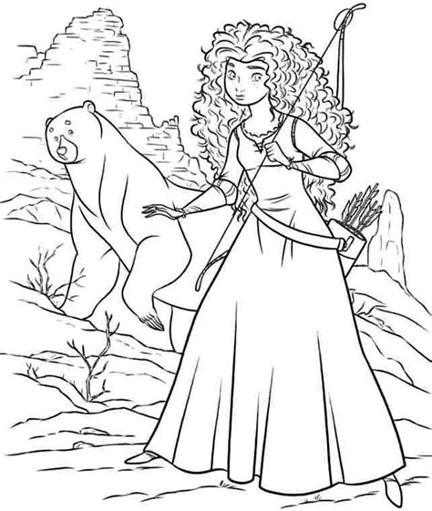 5 Best Images Of Merida Free Printables Brave Princess Disney Princess Coloring Pages Brave