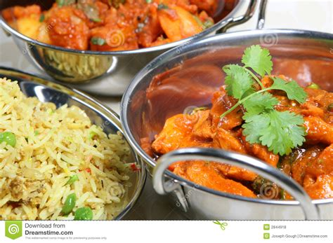 indian curry dinner indian curry meal food royalty free stock photos image