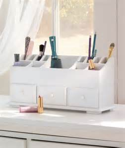 White Vanity Organizer New Wooden Vanity Cosmetic Makeup Storage Organizer