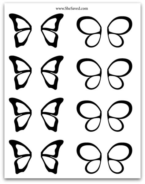 chocolate butterfly template clipart best