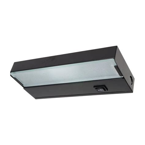 8 In Xenon Black Under Cabinet Light Fixture 10350bk Cabinet Lights Home Depot