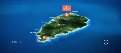 map of st and surrounding islands map of st lucia st lucia map caribbean st s club