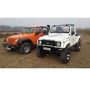Jeep Wrangler Rubicon Meets Maruti Gypsy In India  SouLSteer