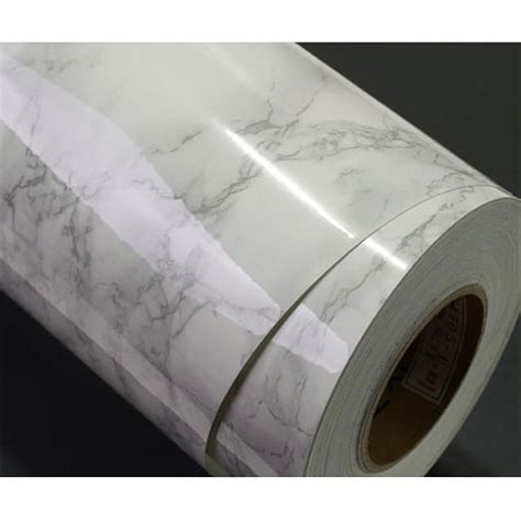 Washable Wallpaper For Kitchen Backsplash white granite film 2m counter top look by verryberrysticker