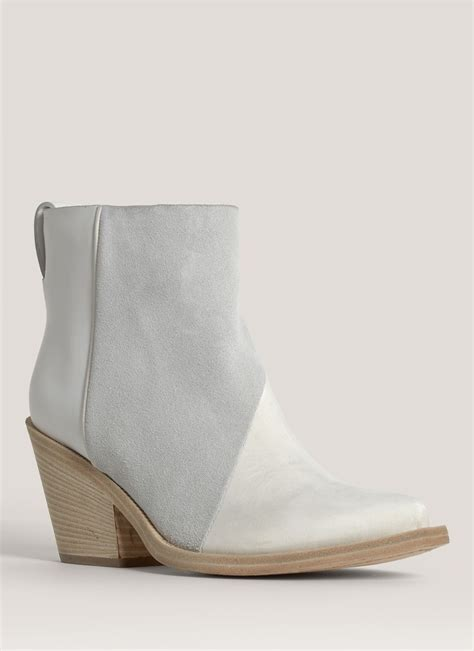 white leather boots acne studios donna leather cowboy ankle boots in white lyst