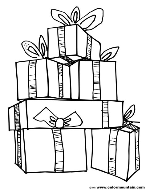 Christmas Presents Coloring Sheets Coloring Pages Coloring Pages Presents