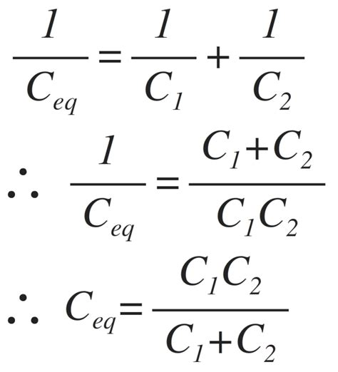 capacitor in series equation capacitors in series combination electronics tutorial