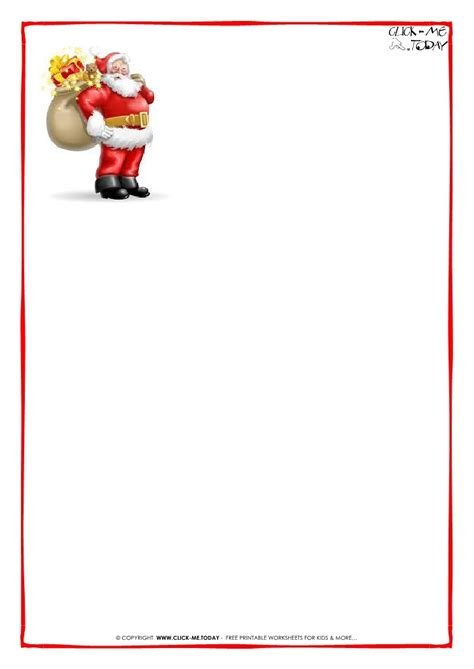 blank letters from santa templates free invitation template