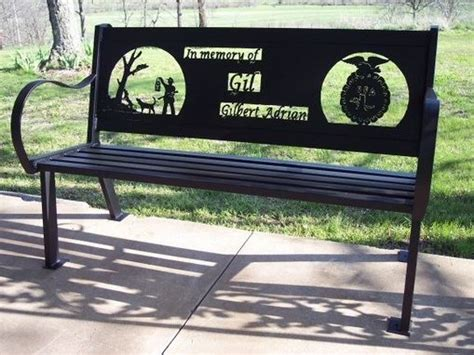 personalized garden bench custom made memorial bench by hooper hill custom metal