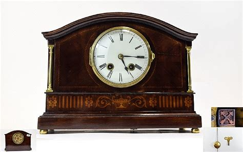 mahagony hamburg hamburg american clock co polished mahogany cased 8 day st