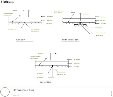 Corian Details Wall Seam Options Aia Cad Details Zipped Into