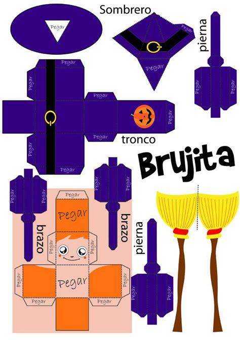 imagenes de halloween para hacer marioneta articulada de bruja manualidades para ni 241 os