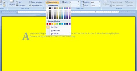 add page color page 171 style formatting 171 microsoft