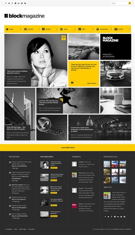 layout blog magazine best web design yellow magazine blog images on designspiration