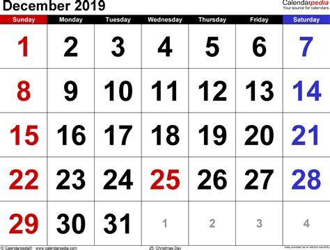 december  calendar templates  word excel
