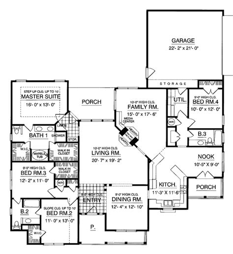 back bathroom floor plan revisions dscn home creative country style house plan 4 beds 3 baths 2531 sq ft plan