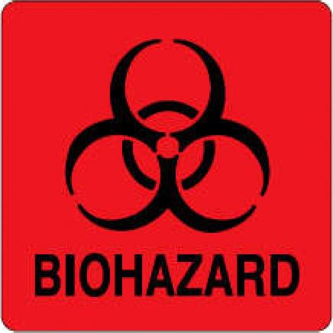 printable biohazard label biohazard label 500 fluorescent red stickers pdc healthcare