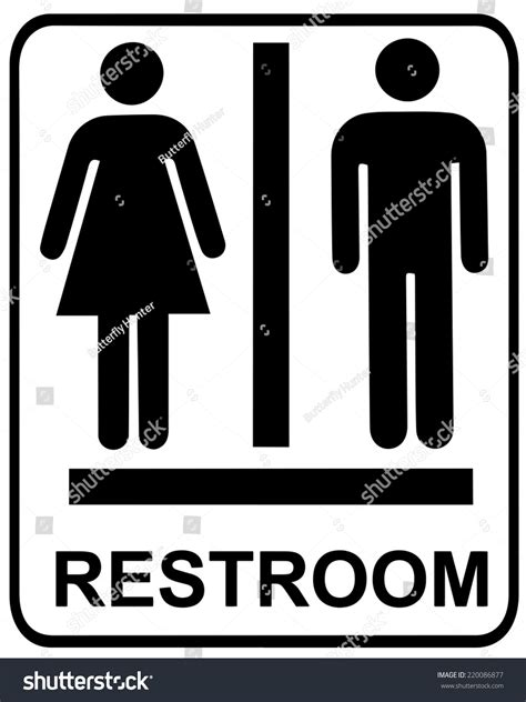 male female bathroom sign images male female restroom sign stock vector 220086877