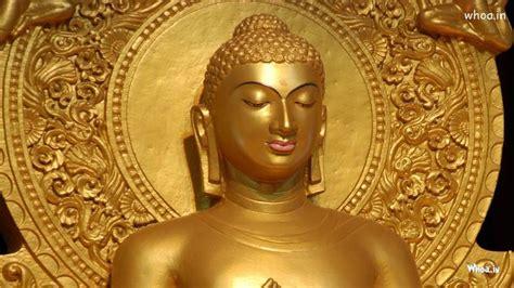 golden lord buddha statue  face closeup hd wallpaper