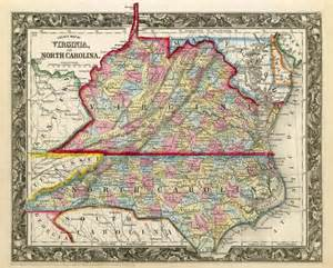 map of west virginia and carolina vintage state map of carolina and virginia 1860