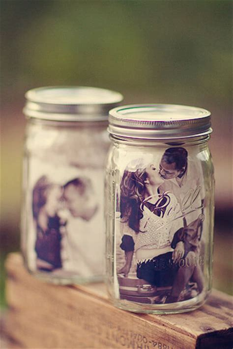wedding table decoration ideas with jars clever idea jars with photo inside for table decor