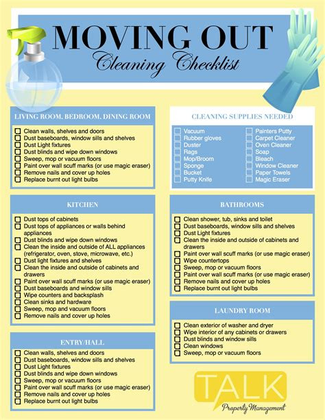 Apartment Clean Out Rental Property Moving Out Cleaning Checklist Talk Property Management