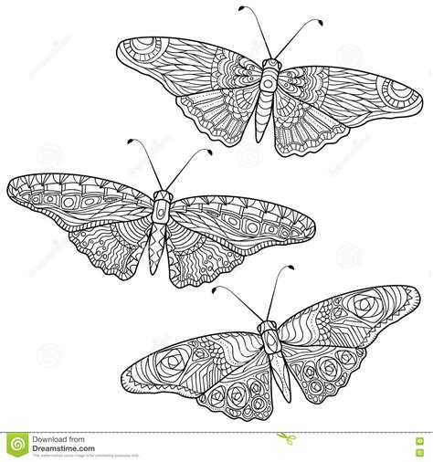 anti stress colouring book doodle and butterfly anti stress coloring pages in doodle style