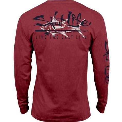 the original salt company l salt life tuna company salt wash long sleeve t shirt l