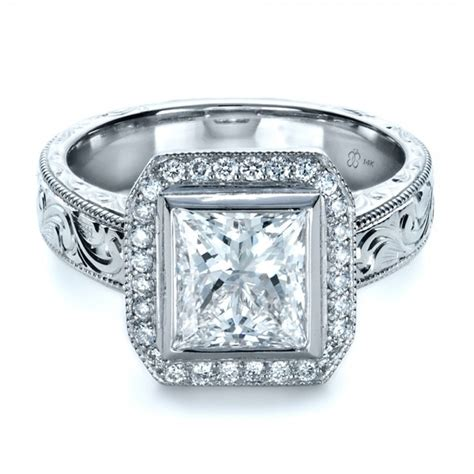 custom princess cut halo engagement ring 1209 bellevue