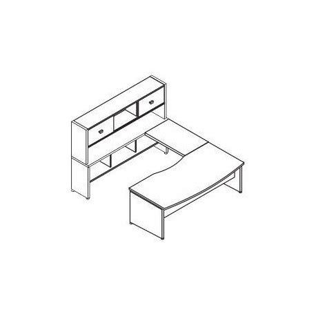 scrivania alta scrivania con allungo e consolle alta posteriore offixstore