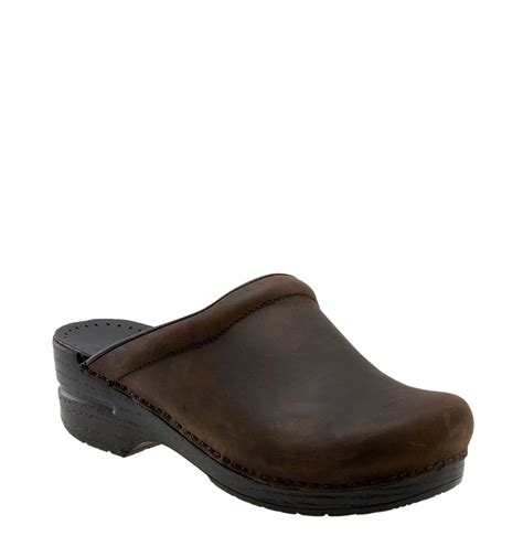 brown clogs for dansko sonja leather clog in brown antique brown