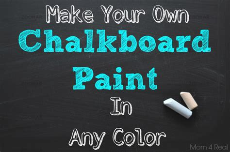 chalkboard paint make your own make your own chalkboard paint in any color 4 real
