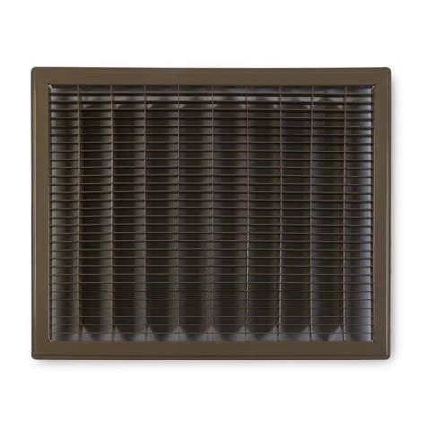 Floor Grilles by Shop Accord Ventilation 120 Brown Steel Louvered Floor