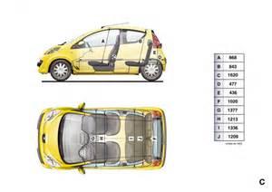 Peugeot 107 Dimensions Dimensions Int 233 Rieures Peugeot 107 1 024 Photos