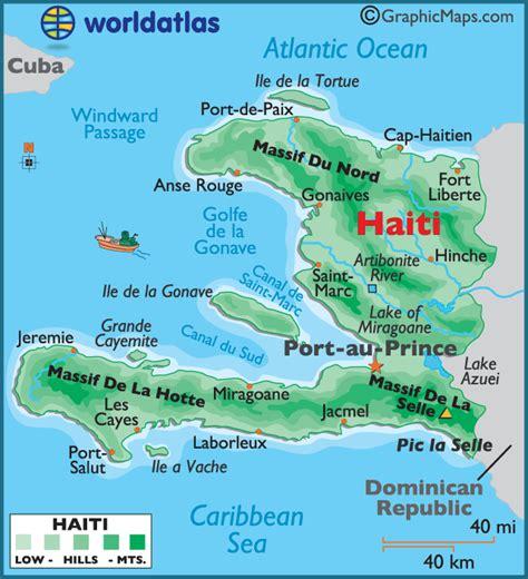 printable map haiti haiti large color map