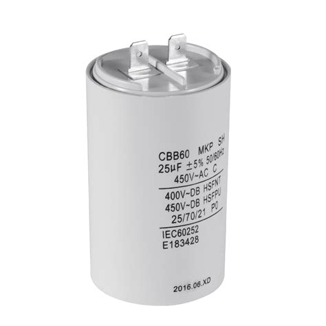 run capacitor small washing machine part polypropylene ac motor sh capacitor 25uf 450v cbb60 hs837 ebay