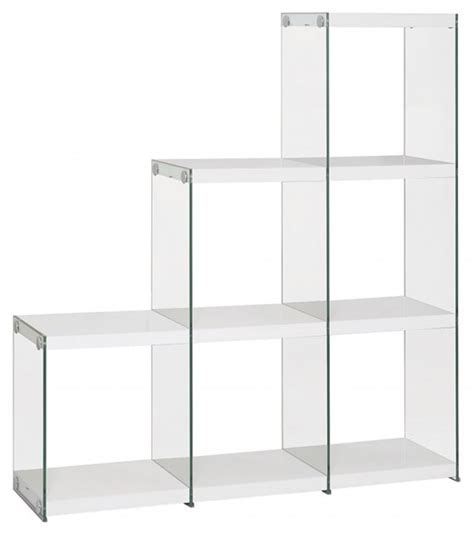 contemporary white bookcase contemporary white wood glass shelves bookcase home