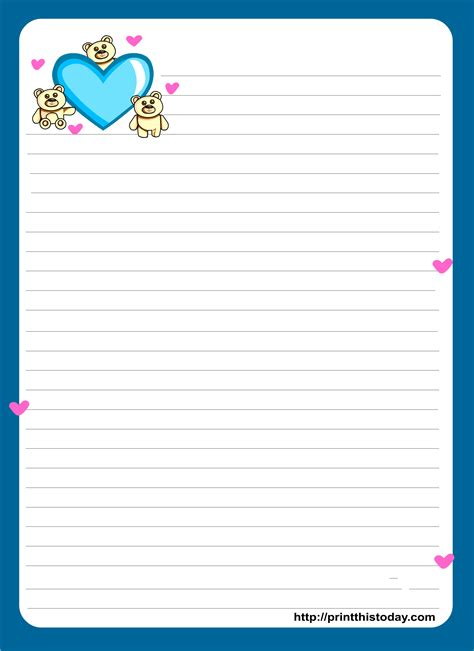 letter writing paper miss you letter pad stationery lined stationery