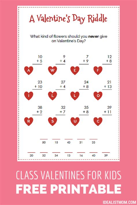 riddles for valentines day these valentines for as a math