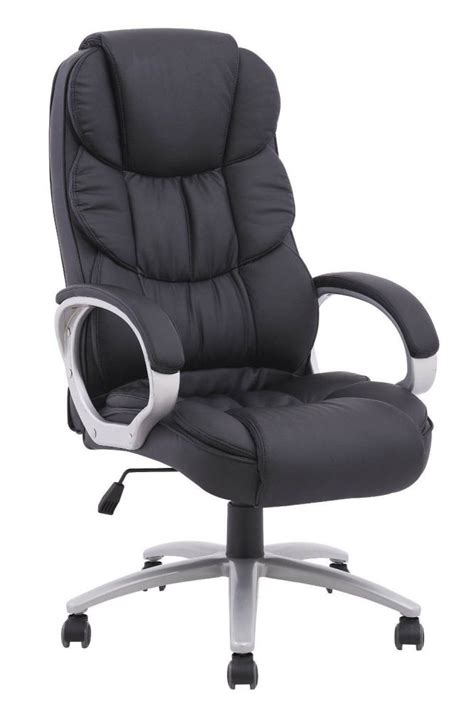 Office Chair Back by High Back Executive Pu Leather Ergonomic Office Desk