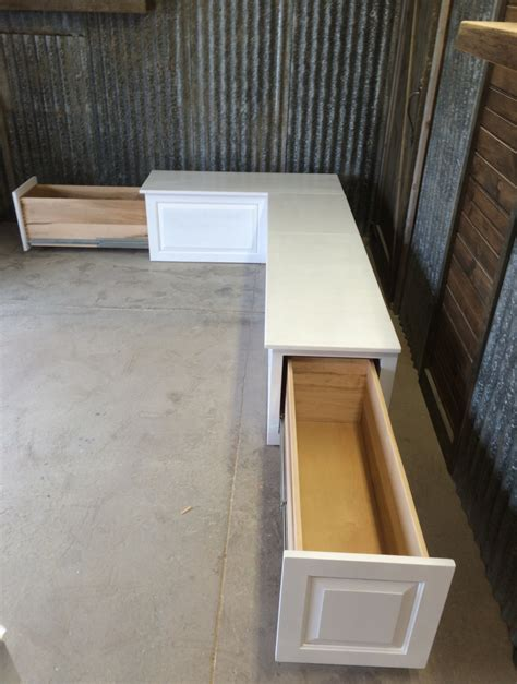 built in storage bench with drawers banquette corner bench seat with storage drawers