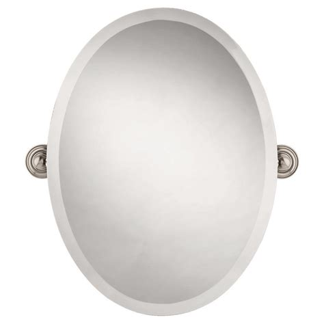 delta bathroom mirrors delta greenwich 24 in x 18 in frameless oval bathroom