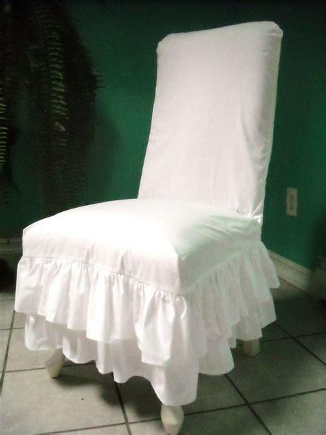 white chair slipcovers white muslin ruffled chair slipcover chair cover pinterest