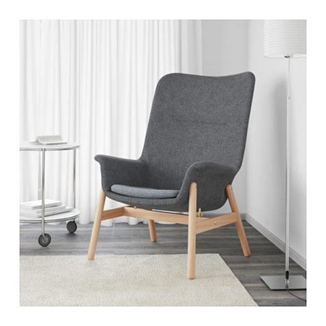 ikea grey armchair vedbo high back armchair gunnared grey ikea